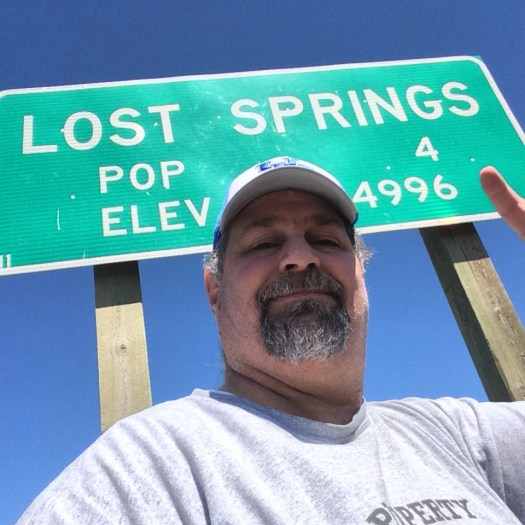 Lost Springs in 2014 - ironically I was wearing the same shirt 7 years later!!!
