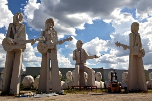 The Beatles statues by David Adickes in Houston (photo from http://365thingsinhouston.com)