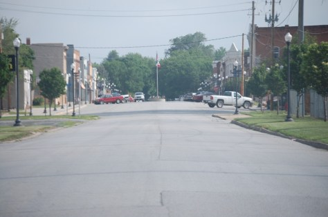 This is a shot of downtown Hamburg, IA