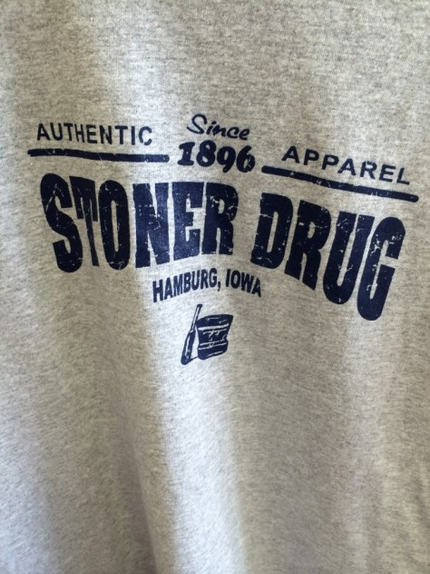 "Stoner Drug even sells T-shirts and hats.  I almost got one, but I had used my ""hat money"" on a Carhenge hat the previous day"