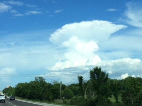 Large clouds over central Missouri