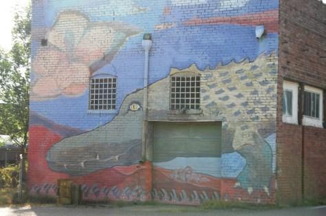 Alligator Wall Mural, Alligator, MS