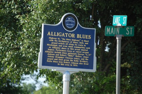 Alligator Blues Marker in Alligator, MS