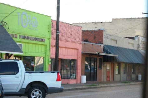 Colorful buildings of Shelby, MS
