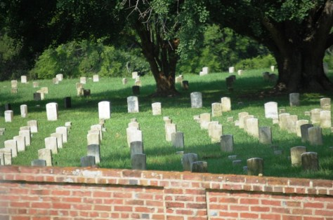 A portion of Vicksburg National Cemetery