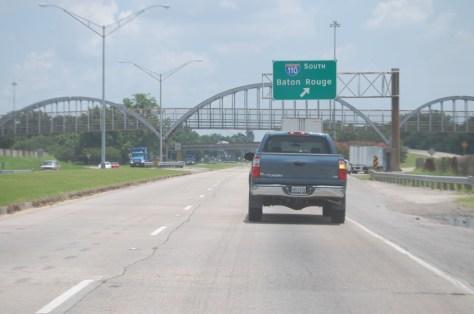 Heading towards Baton Rouge