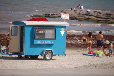 Shaved Ice Cart on beach