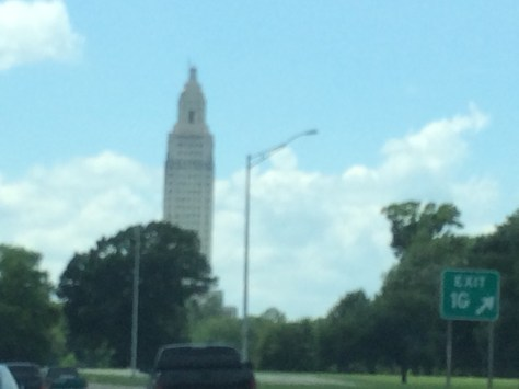 Louisiana State Capitol Building as seen from US Hwy 61