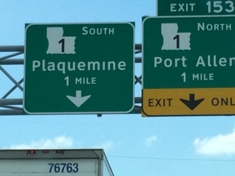 Heading to Plaquemine, LA