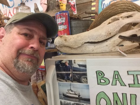 Cuddling with a White Gator at P'MAWS in Pierre Part, LA