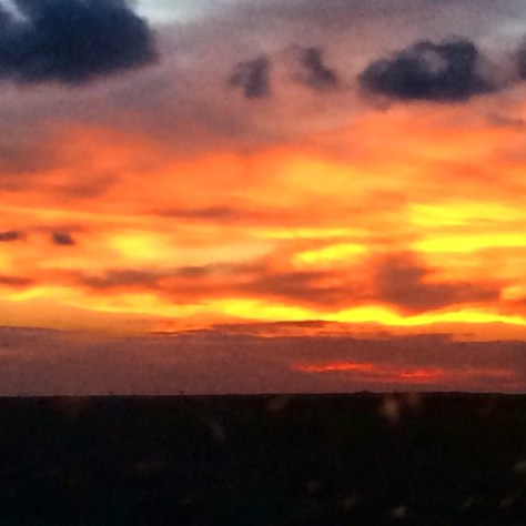 Sunset as seen from TX 87 on the Bolivar Peninsula northeast of Galveston