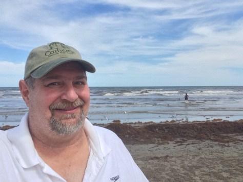 Sumoflam enjoying the beach in Galveston