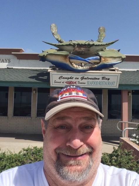 Giant Crab and smaller Kravetz in Galveston