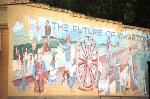 Future of Wharton, TX Mural by Dayton Wordrich