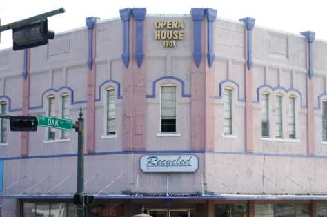 The Old Opera House in Denton is now a shopping center