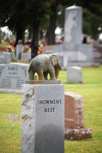 Showmen's Rest in Hugo's Mt. Olivet Cemetery