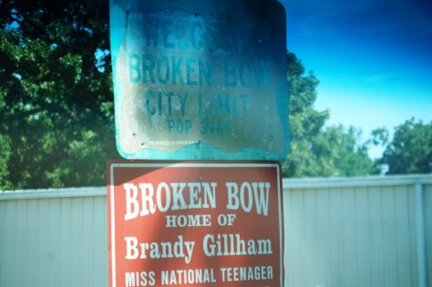 Welcome to Broken Bow...old sign