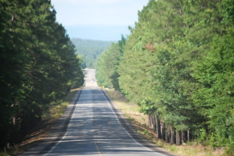 Oklahoma Hwy 4 just west of the Arkansas border.