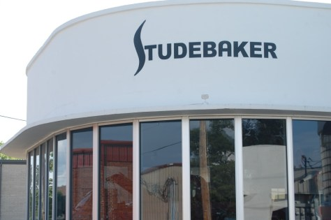 Restored Studebaker Dealer building designed by Frank Lloyd Wright