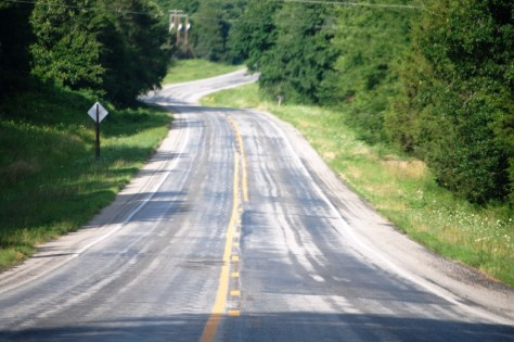 A view of Arkansas Hwy 8 southeast of Mena, AR