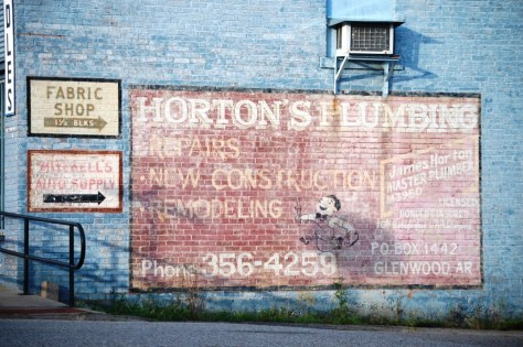Ghost sign in Glenwood, AR