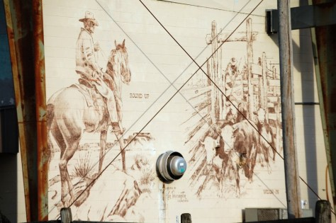 Large Wall Mural at Cattlemen's Livestock Market in Glenwood, AR