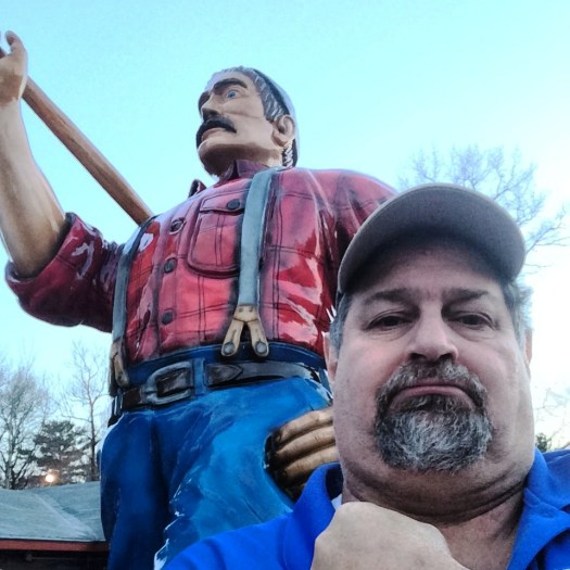 a Big Paul Bunyan in northern Wisconsin