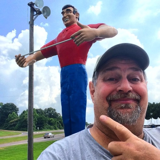 This Big John welcomes you to Mississippi with open arms.  (June 2014)