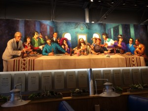 The Great Texas Supper Mural at LSA Burger Co, in Denton, TX