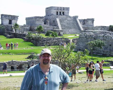 Enjoying a visit to the Tulum Ruins on the Yucatan Peninsula in Mexico