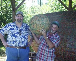 Visiting JFK The Twine Ball man in Lake Nebagamon, WI in 2007