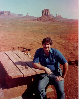 Enjoying the splendor of Monument Valley in southern Utah and Northern Arizona around 1983