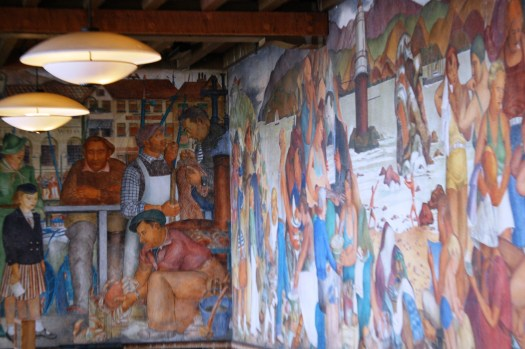Mural at the Golden Gate Park Visitor's Center
