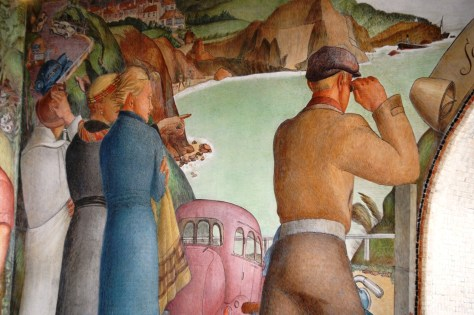 A portion of the Golden Gate Park mural