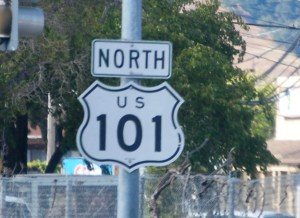 Headed north on US 101