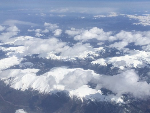 A view of the Colorado Rockies form the air.  Lovely!