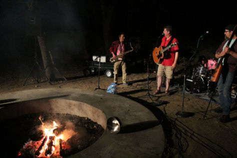 Singing around the campfire at Woodflock