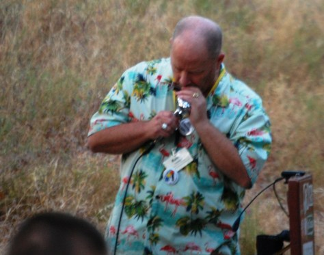 Kevin brought his harmonica and joined with the band.  Always lots of fun