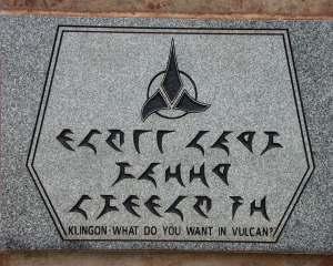 Welcome to Vulcan in Klingon