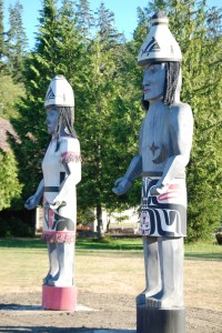 Wooden guardians of Neah Bay?