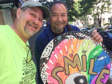 Met the Seattle Smile Guy along the way. Didn't want money... just wanted smiles