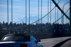 Mt. rainier as seen from the Tacoma Narrows Bridge
