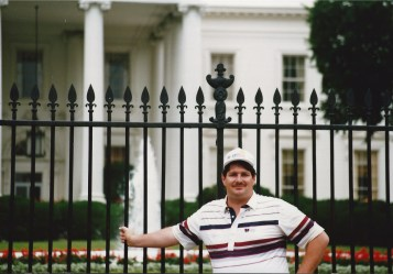 At the White House in Washington DC in 1990