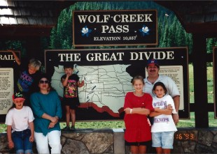 At Wolf Creek Pass in Colorado with the family in 1993