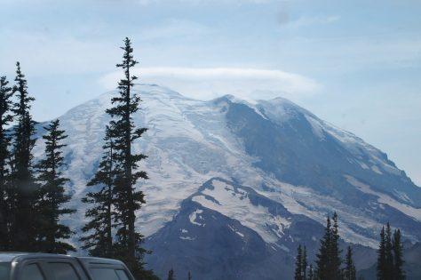 A Halo surrounds Mt. Rainier