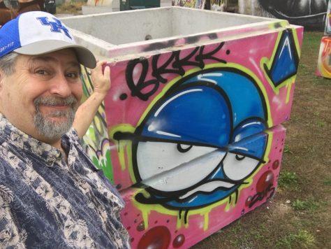 Signature work of Louisville Street Artist BRRR