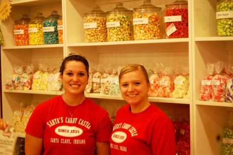 Santa's Helpers at the Candy Castle.