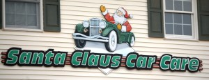 Santa Claus Car Wash in Kringle Place - I guess Santa also has a car!
