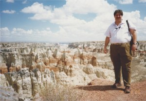 Sumoflam at Coal Mine Canyon in 1991. Cola Mine Canyon is a few miles from Tuba City