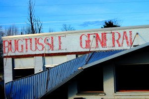 What remains of the Bugtussle General Store in Bugtussle, KY